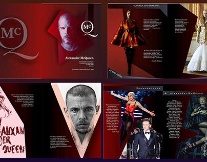 Буклет модного дома Alexander McQueen