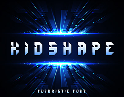 (FREE DOWNLOAD) Kidshape | Futuristic Font