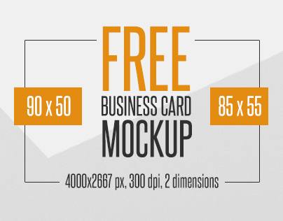 4 Free Business Card Mockup