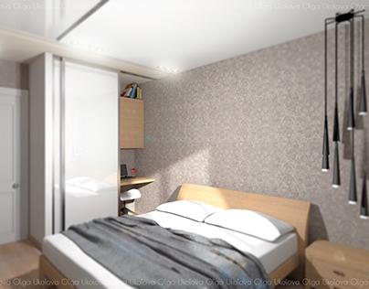 Спальня в стиле - Контемпорари.