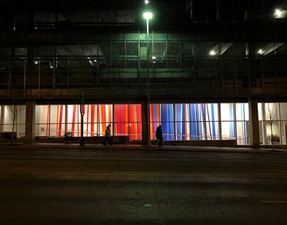 100 Lines Mural-UICA