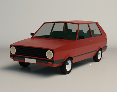 Low Poly City Car 03