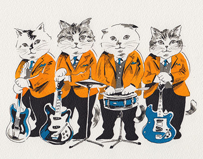 Cat's issue / Band T-shirts