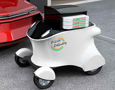 Pizza delivery robot concept