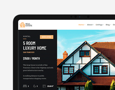 Real Estate WordPress Theme Social Media Banner