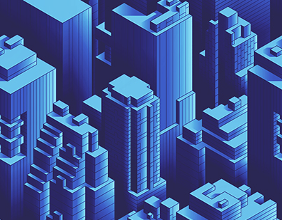 The Seamless Pattern Project   ISOMETRIC CITY