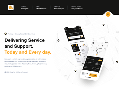 Package - Delivery App UX & UI Case Study