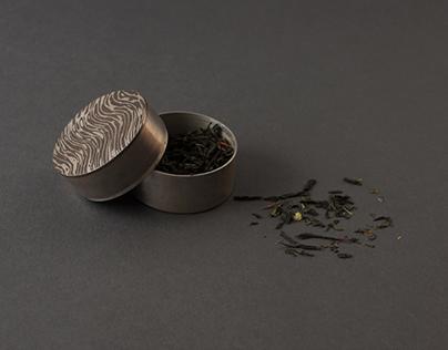 tea container _ mokume gané
