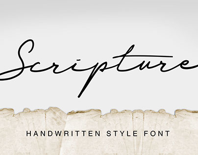 Scripture Handwritted font