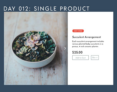 Daily UI Challenge #012: Single Product