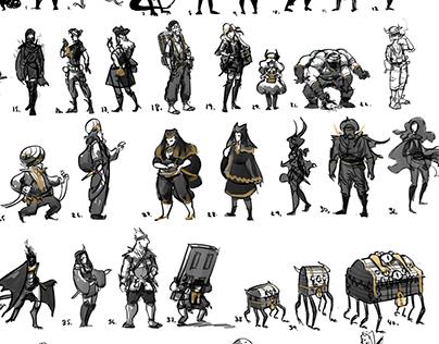 Character Silhouettes: Treasure Hunter