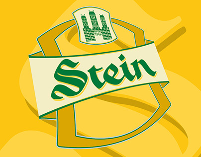 Stein Beer label design
