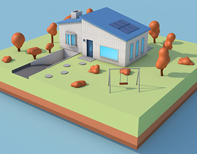 Low Poly House (Messing Around with 3D)