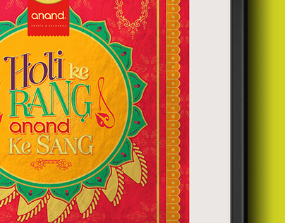 Anand Sweets - Holi Campaign poster