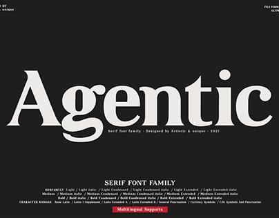 Agentic - Serif font family