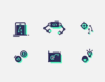 Mobile App mini icons (Free ai)