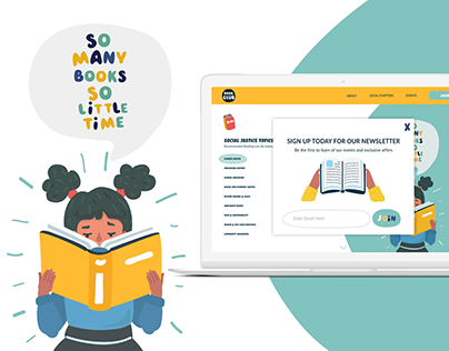 Popup UI for Book Club for Children