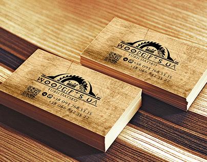 Businesss card for wood craftsman