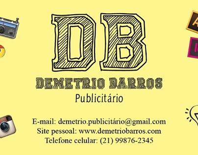 Cartão de visita pessoal (informações fictícias)