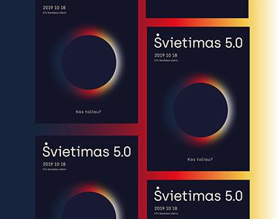 Švietimas 5.0 | Education conference visual identity