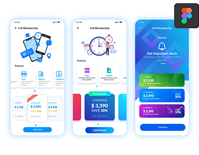 Different styles of UI design