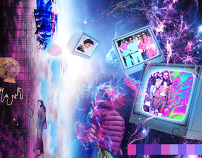 Moodboard for the collection Pink and Blue - Universe i