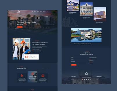 Construction Landing Page - Architect