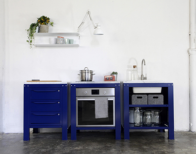 Very Simple Kitchen [Dark Blue]