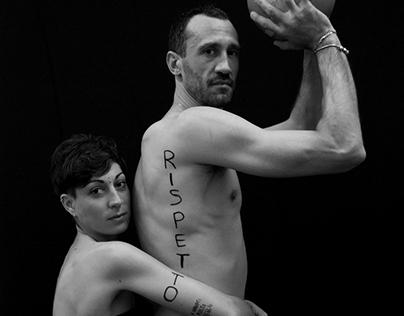 #ManiInTasca   photoshoot campaign against violence
