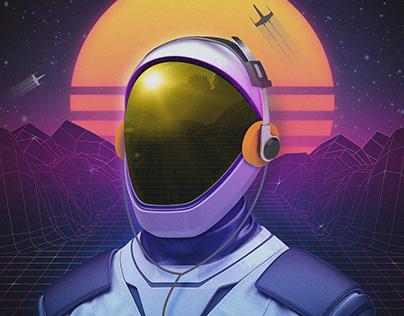 80s Astronaut
