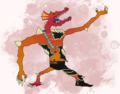 Chromatic Kobold Dragon Man-Dude