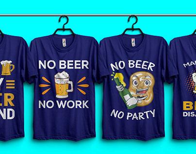 Beer T-shirt Design.
