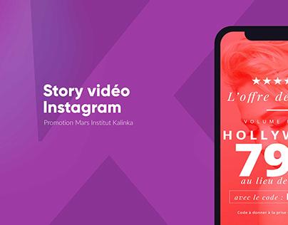 Video animée pour story promo instagram