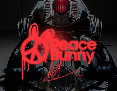 T51 Peace Bunny Helmet - Fallout76 Collaboration