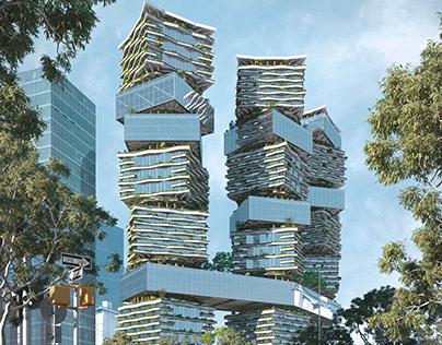 Hierarchy Towers by Gennadiy Kraev
