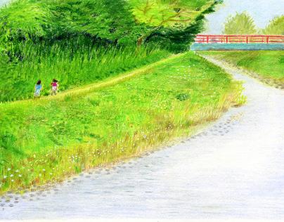 個展「散歩の途中」