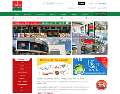 Radhe Wholesale Website Design and Development