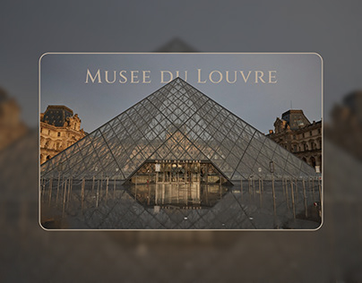 Concept for The Louvre museum website