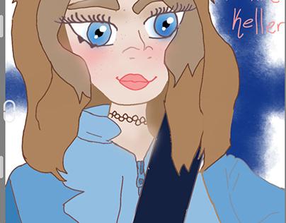 Drawing Christine keller