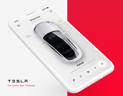 Tesla - Car Control App (Digital Design Challenge 03)