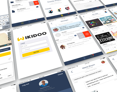 UI / iOS app design for e-learning