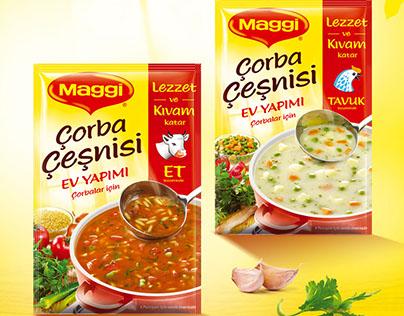 Maggi Çorba Çeşnisi, Köfte-Tavuk Harcı, Et-Tavuk Suyu