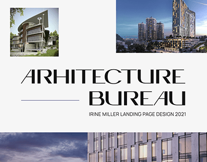Architecture Bureau Landing Page UX UI