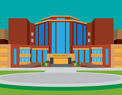 Personal Project : Amity University - Central Library