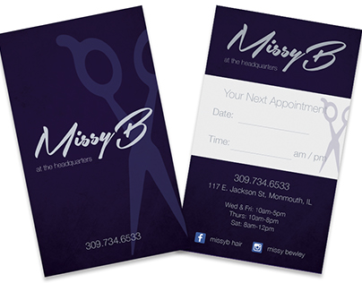 Missy B Logo & Appointment Cards