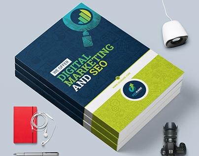 Bi-Fold Brochure Template for SEO & Digital Marketing
