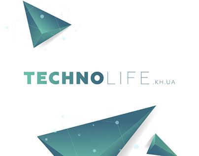 "Landing Page ""TechnoLife"""