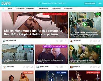 News Publishing Website UI