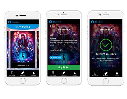 Silverbird Movie Ticket App Concept