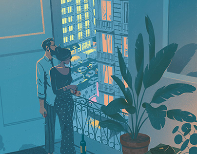 airbnb Magazine cover Illustration
